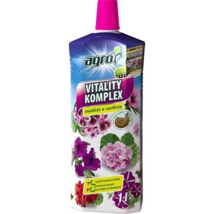 Hnojivo Agro Vitality komplex muškát a surfinie 1 l CZ