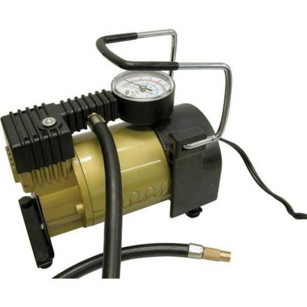 Kompresor Carpoint 12V 7bar s měřičem tlaku celokovový