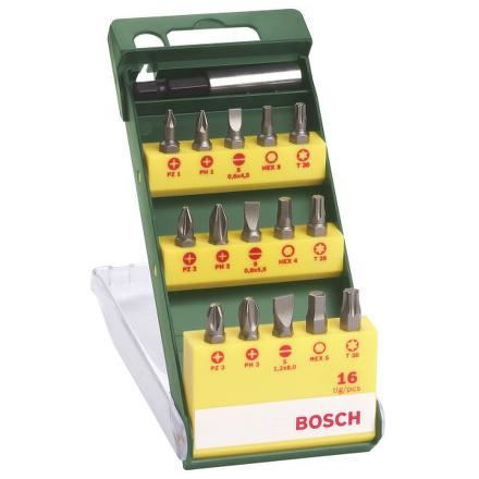 Sada Bosch 16 dílná šroubovacích bitů