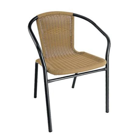 Židle zahradní Happy Green 50XYC-067A PE RATAN, ocelové