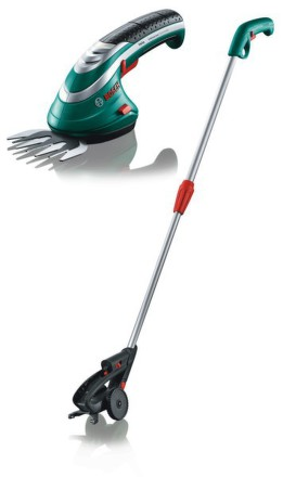Nůžky na trávu Bosch Aku Isio 3 + telekospická tyč