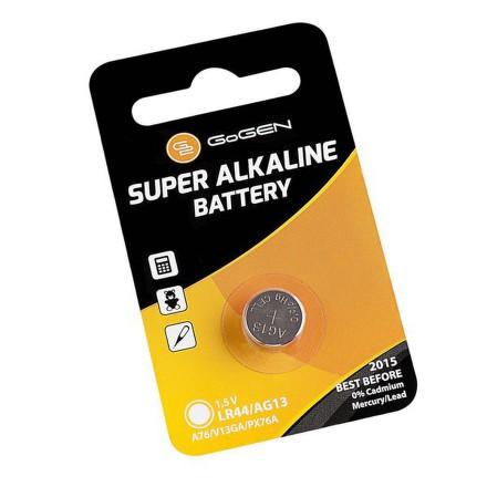 Baterie alkalická GoGEN SUPER ALKALINE LR44, blistr 1ks