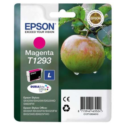 Inkoustová náplň Epson T1293, 485 stran originální - červená