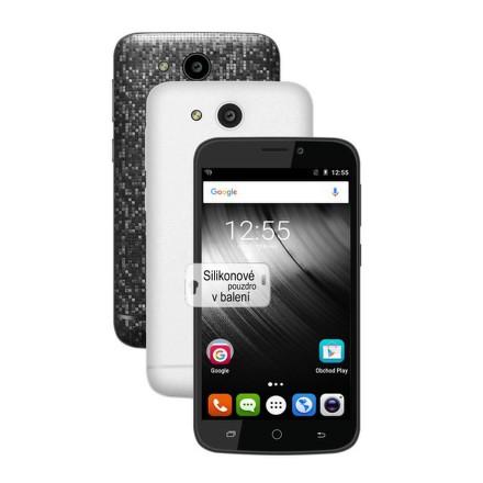 Mobilní telefon iGET BLACKVIEW A5 + balení 2 kryty (černý a bílý) a silikonové pouzdro