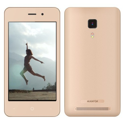 Mobilní telefon Aligator S4080 Dual SIM - zlatý