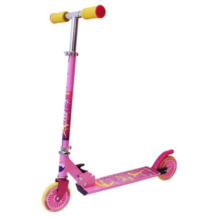 Koloběžka Lifefit skládací FUNNY dívčí - růžová