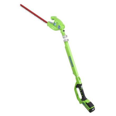 Nůžky na živý plot aku Greenworks GWHT 2451 A teleskopické