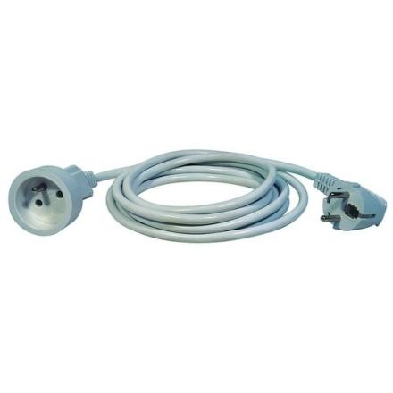Kabel prodlužovací EMOS 1x zásuvka, 3m - bílý