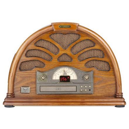 Radiopřijímač s CD Hyundai RC 403 U RETRO, borovice