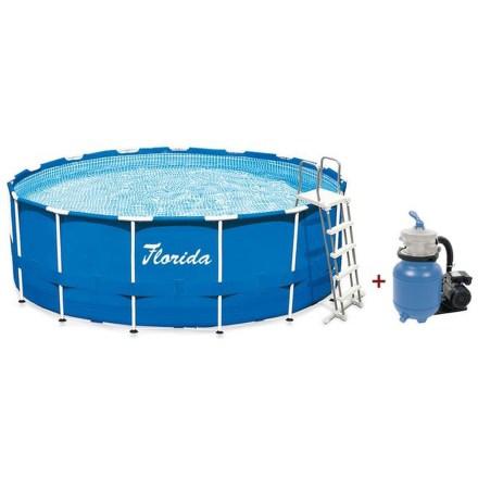 Bazén kruhový Marimex Florida 3,66x0,99 + PF ProStar 3 SET (2 kart.)