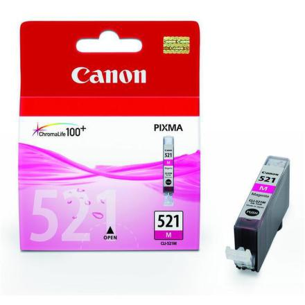 Inkoustová náplň Canon CLI-521M, 510 stran originální - růžová