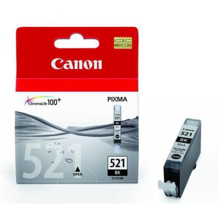 Inkoustová náplň Canon CLI-521Bk, 3420 stran originální - černá