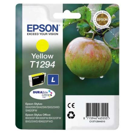 Inkoustová náplň Epson T12944011, 485 stran originální - žlutá