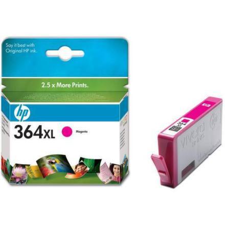 Inkoustová náplň HP No. 364XL, 750 stran originální - červená