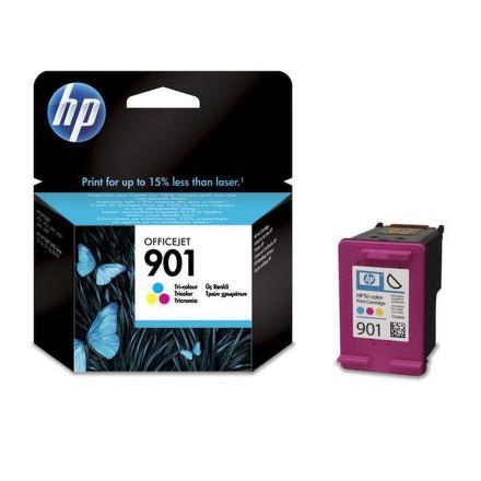 Inkoustová náplň HP No. 901, 360 stran originální - červená/modrá/zelená