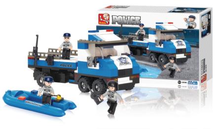 Sluban Policejní náklaďák s člunem