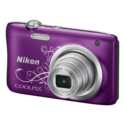 Fotoaparát Nikon Coolpix A100, fialový Lineart