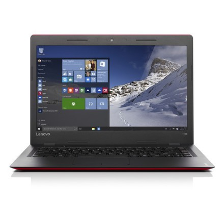 "Ntb Lenovo IdeaPad 100S-14IBR Celeron N3060, 2GB, 32GB, 14"""", HD, bez mechaniky, Intel HD, BT, CAM, W10 - červený"