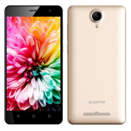 Mobilní telefon Aligator S5062 Dual SIM - zlatý