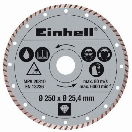 Kotouč diamantový Einhell, 250x25,4 mm k řezačkám RT-SC 570 L a STR 250