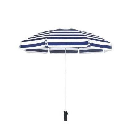 Slunečník Happy Green 50XT2205BS plážový 230 cm, modro-bílý