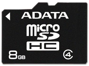 ADATA micro SDHC 8GB class 4 ad