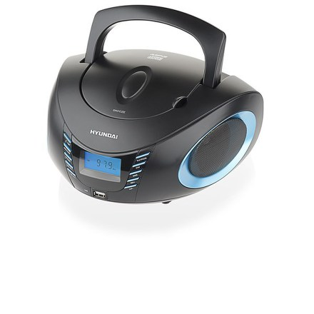 Radiopřijímač Hyundai TRC 182 ADRU3BBL, CD/MP3/USB, černý/tyrkysový