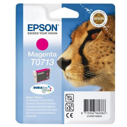 Inkoustová náplň Epson T0713, 270 stran originální - růžová