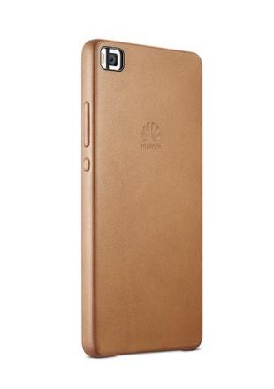 Kryt na mobil Huawei P8 kožené - hnědý