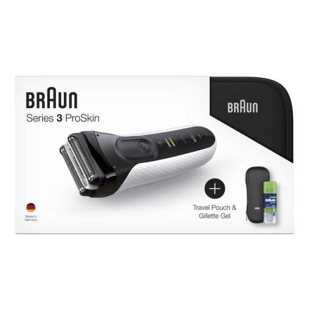 Holicí strojek Braun Serie 3 3040s W&D +toaletní taška+pouzdro+gel na holení