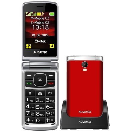 Aligator V710 Senior Dual SIM - červený