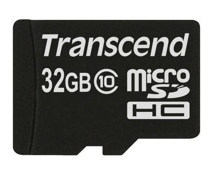 Paměťová karta Transcend MicroSDHC 32GB Class10 + adapter