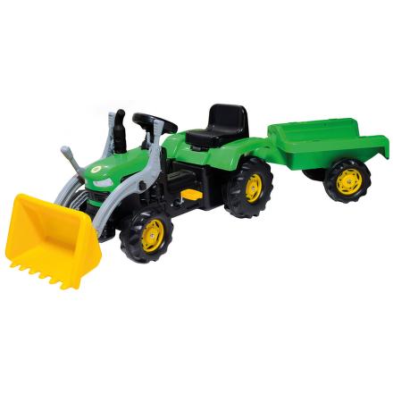 Buddy Toys BPT 1031 šlapací traktor se lžící a vozíkem