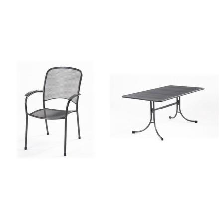 Zahradní nábytek Riwall Caroni 4+ (4x židle Carlo, 1x stůl Universal)