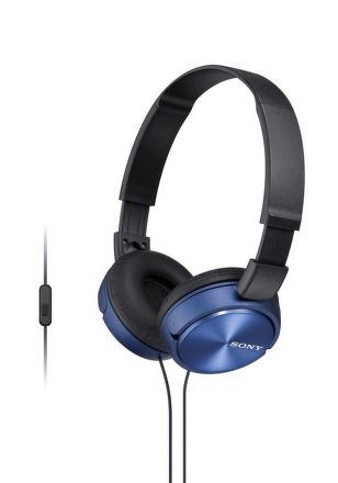 SONY sluchátka MDR-ZX310AP, handsfree, modré