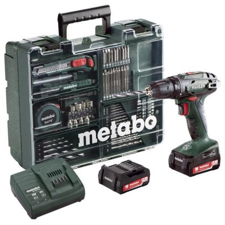 Aku vrtačka Metabo BS 14.4 Set MD 2x2,0Ah