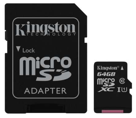 Kingston miSDXC 64GB UHS-I + adapter