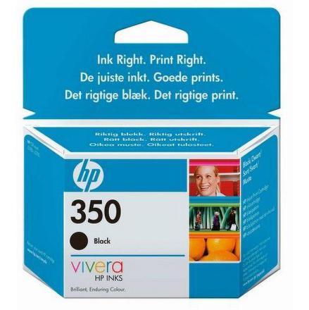 Inkoustová náplň HP No. 350, 4,5 ml originální - černá