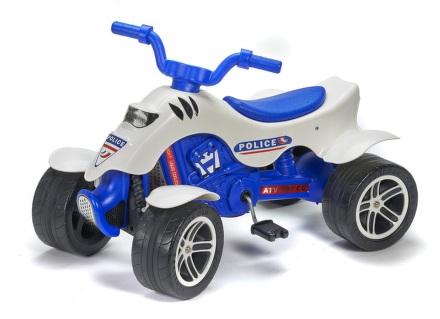 Šlapací čtyřkolka FALK policie - bílá/modrá/plast