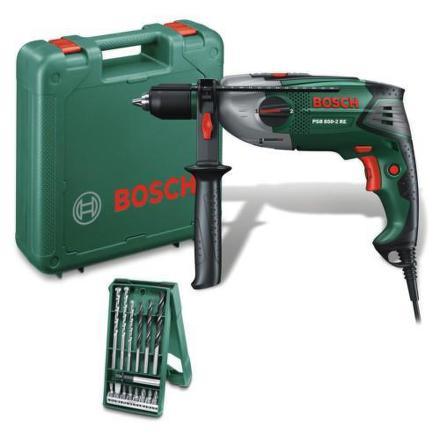 Vrtačka Bosch PSB 850-2 RE + 15 ks X-line set
