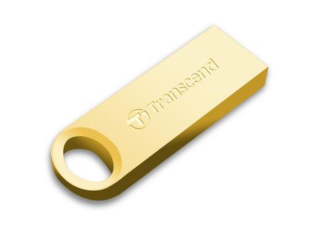 Flash USB Transcend JetFlash 520G 32GB USB 2.0 - zlatý/kovový