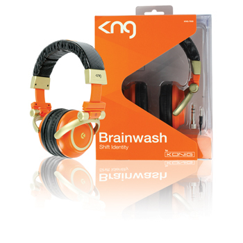 Uzavřená sluchátka KNG-7020 Brainwash oranžová