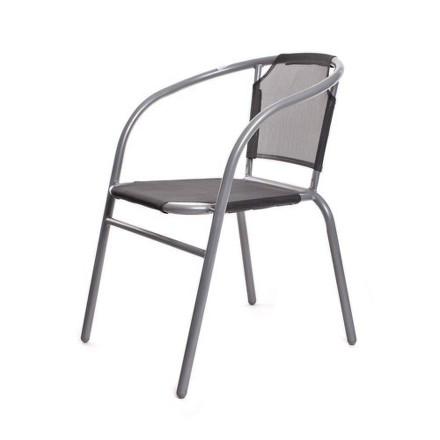 Židle zahradní Happy Green 50XYC-5A ocelové textilen - antracit