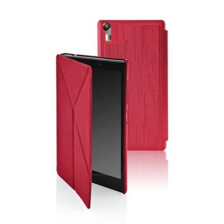 Pouzdro na mobil flipové GoGEN pro Lenovo VIBE SHOT - červené