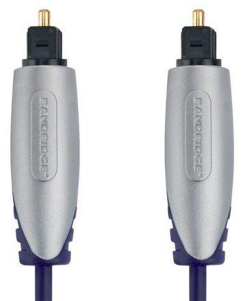 Kabel Bandridge Premium, optický, 2m, audio - černý