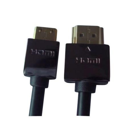Kabel GoGEN HDMI HDMI - MICRO HDMI (D), 1.4 high speed - ethernet, M/M, 1,5 m, pozlacený, černá barva