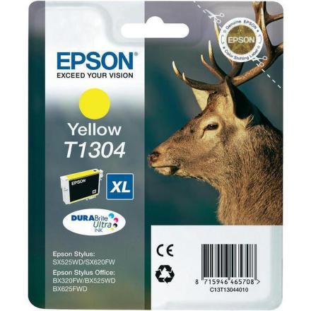 Inkoustová náplň Epson T1304, 10ml originální - žlutá
