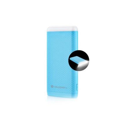 Powerbank GoGEN 8000mAh, svítilna - modrá